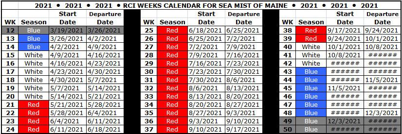 Rci Weeks Calendar 2022.Rci Exchange Use Sea Mist Resort Motel Sea Mist Resort Motel